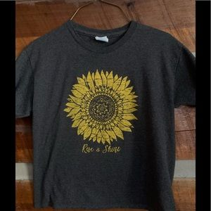Rise & shine sunflower t-shirt